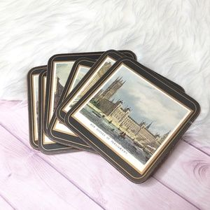 Lot of 6 Pimpernel English Landmark Cork Coasters